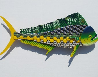 Mahi Mahi Fish Art Miller Lite Bottlecap Metal Bottle Cap Dolphin