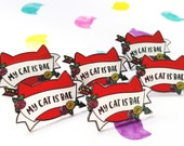 SECONDS SALE ~ Purrfectly Impurrfect Pin ~ My Cat Is Bae