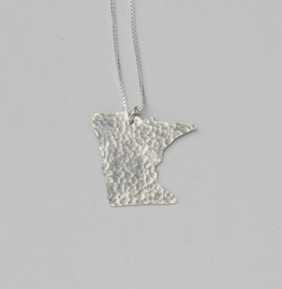 Minnesota State Necklace (sterling silver)