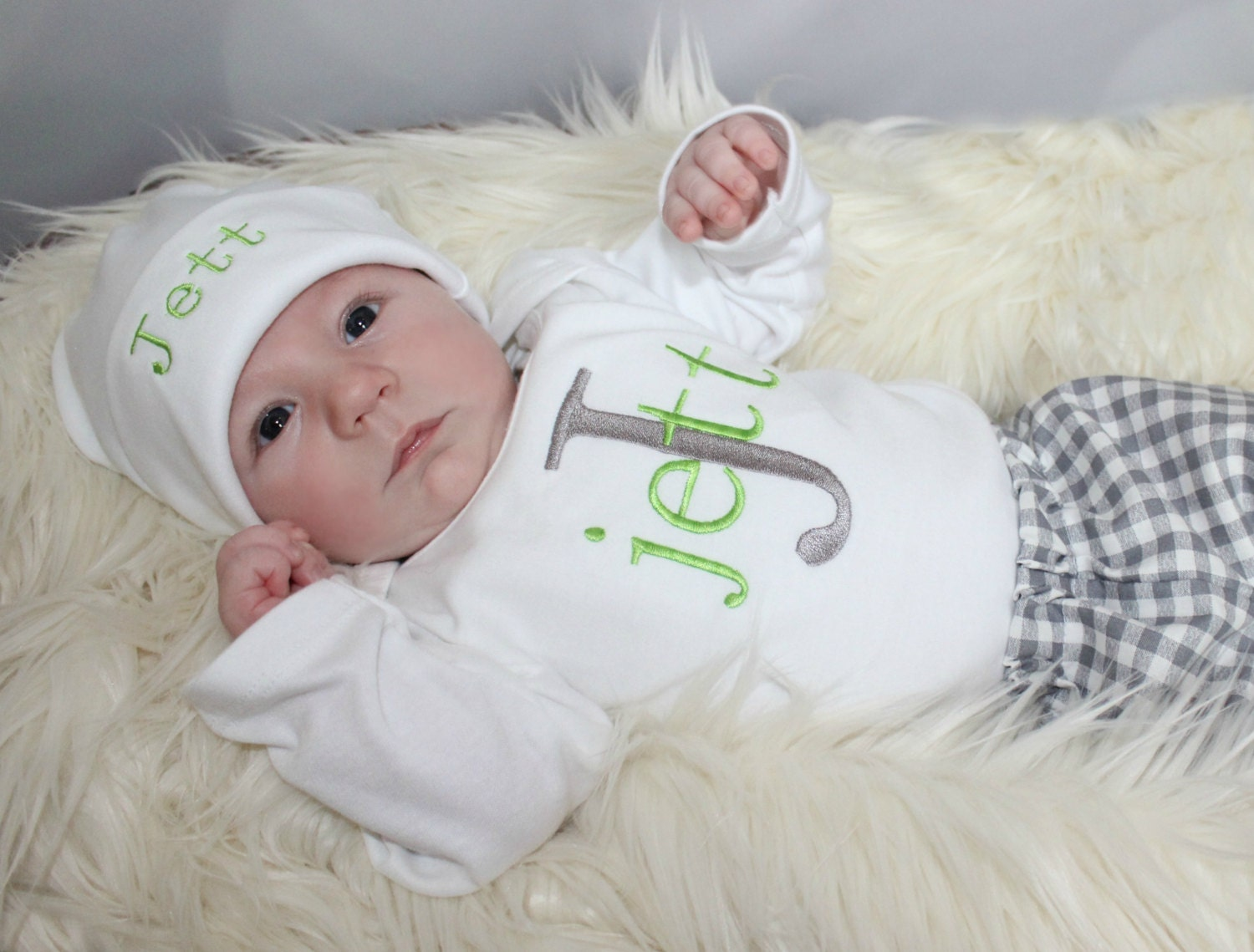 Newborn Baby Boy Take Home Outfit Baby Boy Clothes Monogram