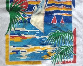 1980's SS Amerikanis cruise ship t shirt