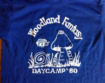 1980 Woodland Fantasy Daycamp t shirt USA large