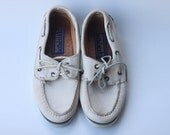 Vintage Women's White Leather Sperry's Size 6.5
