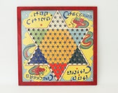 Vintage Hop Ching Chinese Checker Game Board