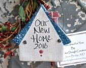 First Christmas New Home Salt Dough Ornament Housewarming Gift