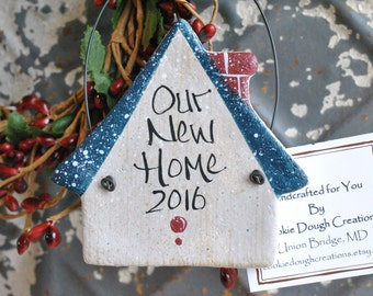 First Christmas New Home Salt Dough Ornament Housewarming Gift