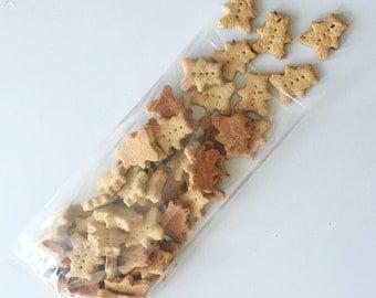 Mini Peanut Butter Honey Bears - Dog Treats - Training Treats - Teddy Grahams - All Natural - 4 dozen mini treats