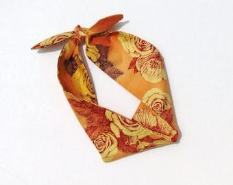 Tie up Headband, Dolly Bow, Head Wrap, Music Festival Headband, Floral Headscarf, Pin Up Headbands, Tie up Headscarf, Vintage Rose DROGHEDA