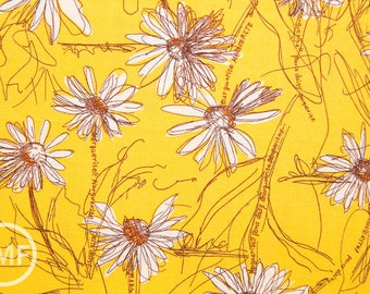 Suzuko Koseki Small Marguerite Daisy in Yellow, Yuwa Fabric, SZ826012E, 100% Cotton Japanese Fabric