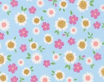 Whimsical Storybook Daisies in Spring, Tara Lilly, Robert Kaufman Fabrics, 100% Cotton Fabric, AYT-15656-192 SPRING