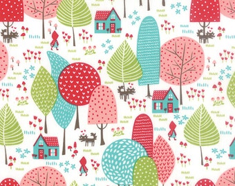 Lil' Red To Grandmother's House in Cloud White, Stacy Iest Hsu, 100% Cotton, Moda Fabrics, 20502 11