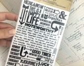 Rub-Ons by Tim Holtz Remnant Rub Quotes Two Sheets