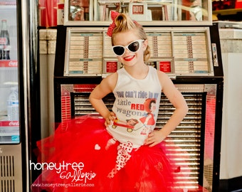 """T-Shirt, Tank, Top or One Piece kids romper """"You can't ride in my little red wagon"""""""