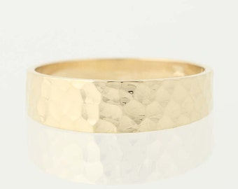 Textured Wedding Band - 14k Yellow Gold Women's Ring Size 11 1/4 N1920