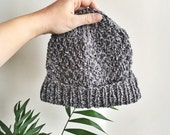 Flint Beanie - Made from 100% Recycled Cotton Yarn - Grey Marled - Proceeds Benefit Flint Water Fund - Ready to Ship