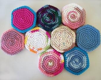 Sewing Needle Books Hexagon Felt Needle Book With Crochet Covers OOAK