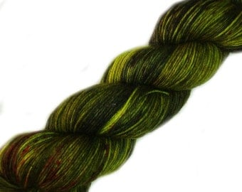 merino nylon sock yarn Mad Max the Organic Mechanic hand dyed fingering weight