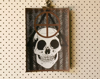 Skull Symbols Limited Edition hand-pulled screen print A4 Serigraph Art Print