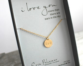 Engraved Jewelry Anniversary Gift for wife Personalized Jewelry Romantic Gift Love Jewelry for Wife 1st anniversary Gift for Women Jewelry
