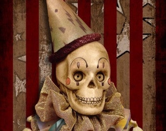 5  Varied Day of the Dead Theatrical Note Cards #1