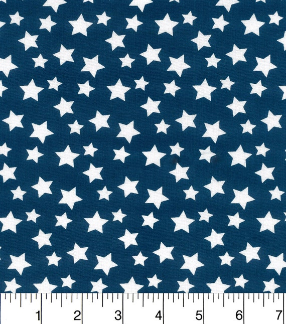 Blue fabric star fabric nursery fabric nautical fabric for Nautical nursery fabric
