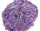 Purple SOLVENT RESISTANT HOLOGRAPHIC Glitter 0.062 Hex -1 Fl. Ounce for Glitter Nail Art, Glitter Nail Polish & Glitter Crafts