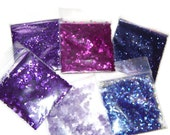 NEW!! Summer Purples Solvent Resistant Glitter Sampler Set of 6 Gorgeous Glitters for Glitter Nail Art and Glitter Crafts