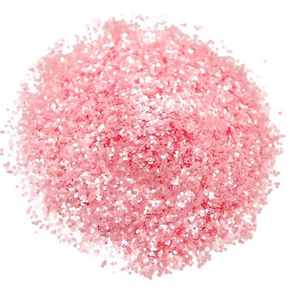 Bubblegum Pink SOLVENT RESISTANT Glitter 0.040 Hex - Pink Nail Glitter 1 Fl. Ounce for Glitter Nail Art , Glitter Nail Polish Glitter Crafts