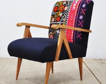 Wooden Armchair -  blue love