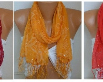 Sequin Scarf, Shawl, Cowl,Wedding Scarf, Bridal Scarf, Bridesmaid Gift, Gift Ideas For Her Women's Fashion Accessories