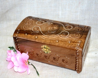Personalized jewelry box Ring box Wooden box Schatulle wood box Jewellery box Wedding gifts Wood ring boxes Wooden boxes Jewelry boxes B57