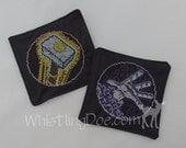 Warcraft Cross Stitched Cloth Coaster Set