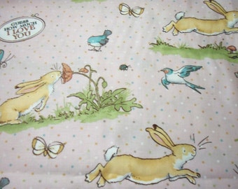 Guess How Much I Love You Fabric Beige Rabbit  New By The Fat Quarter BTFQ