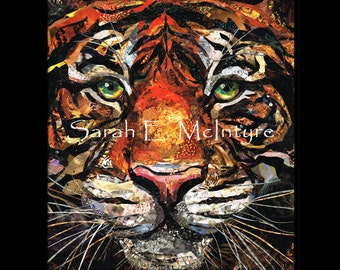 The Tiger- Original Collage Art Print