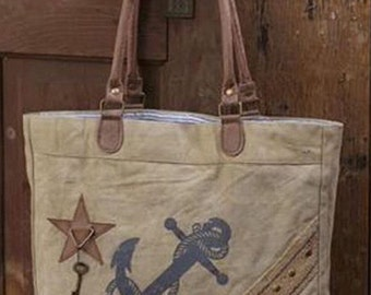 Upcylced Anchor tote bag
