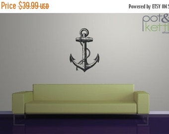 LIMITED SALE - Anchor - vinyl wall decal sticker - large