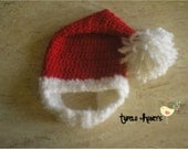 Santa Baby/Toddler Beard Hat (Made To Order)