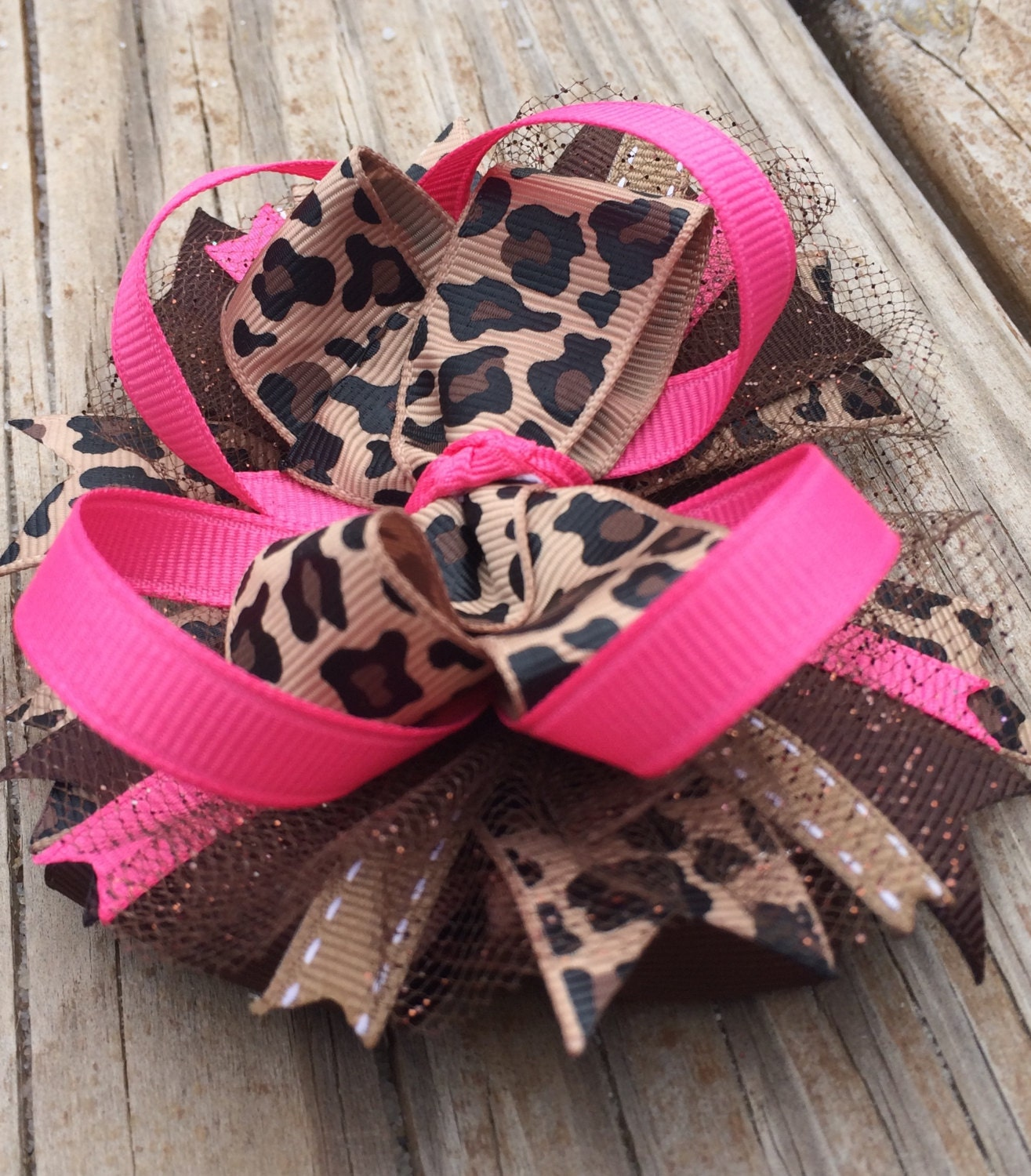 hair bows style leopard hair bow boutique style leopard print by 8915 | il fullxfull.934363668 8sh0