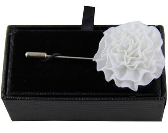 Men's lapel pin brooch chest white flower for Formal Occasions