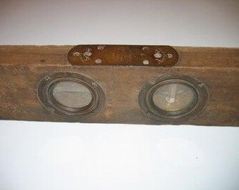 Antique Wood Cook's Bubble Patent Level by Davis & Cook 1888
