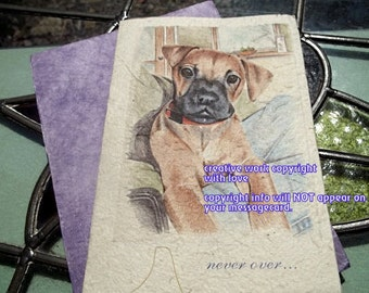 never over...boxer dog cards/ love my boxer/brown dog/personalize/ storybook/sentimental cards/unique empathy condolence cards