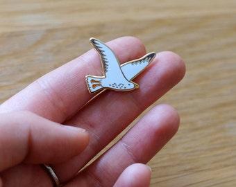 Seagull Enamel Lapel Pin Brooch