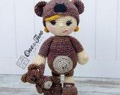 Honey the Teddy Bear Girl Amigurumi - PDF Crochet Pattern - Instant Download - Amigurumi crochet Cuddy Stuff Plush