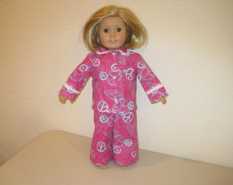 "Pajamas to fit 18"" American Girl Dolls"