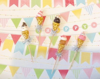 Delicious Ice Cream Cone Toppers
