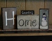 Ready to SHIP!! Holiday Blocks/ 8 piece set/Personalized/Reversible