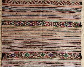 "250X170  cm ( 8' 2"" x 5' 6"") FREE SHIPPING worldwide KL28241 vintage berber kilim rug, flat rug, moroccan rugs , rag rug,morocco carpets"