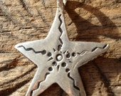 Moroccan small star fish  hand engraved pendant