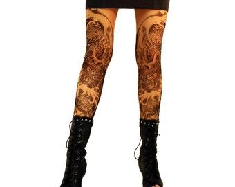 Mythical Dragon Tattoo Leggings