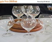 ON SALE Vintage Rosenthal Glass Brandy Snifters, Set of Six